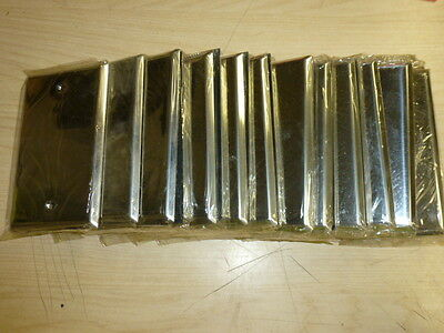 NOS! LOT of (20) 1-GANG CHROME FINISH BLANK WALL PLATE