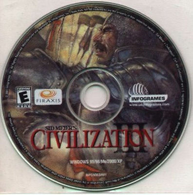 SID MEIER'S CIVILIZATION III 3   Empire-Building PC Strategy Game  New CD