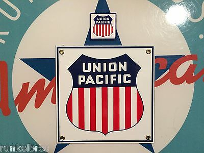 UNION PACIFIC RAILROAD - PORCELAIN COATED METAL SIGN - INCLUDES FREE magnet