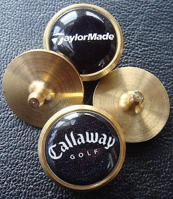 Set of 2 x Collectable Brass Golf Ball Markers