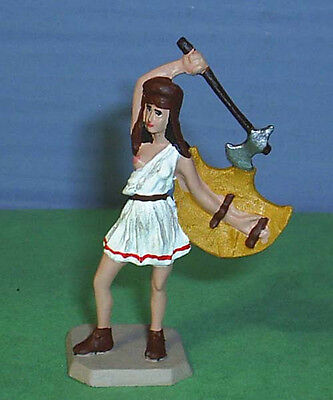 TOY SOLDIERS METAL AMAZON WARRIOR WITH AXE AND SHIELD 54MM