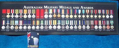 Australian Medals & Awards Bar Runner - Rubber Backed Mat New