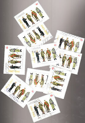 Canada 2013 Princess of Wales Regiment 10 Used Stamps