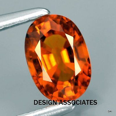 Natural Fine Mandarin Orange Spessartite 6X4 Mm Oval Top Grade