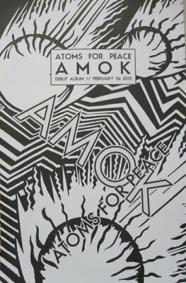 Atoms For Peace 2013 Amok promotional poster Radiohead Flea New Old Stock