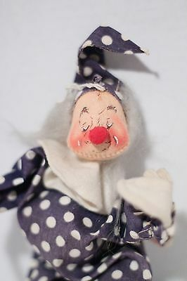 "Annalee 8"" Poseable Clown Doll Vintage 1971"