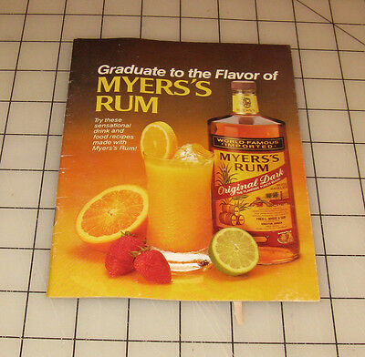 Vintage Graduate to the Flavor of MYER'S RUM Drink Recipe Booklet