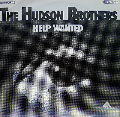 "7"" 1976 RARE IN MINT- ! HUDSON BROTHERS : Help Wanted"