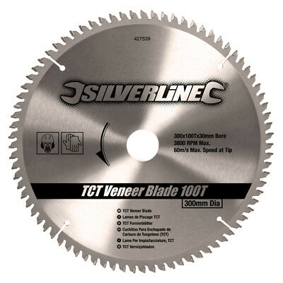 Silverline 427539 300mm Circular Saw Blade 25, 20, 16mm Reduction Ring 30mm Bore