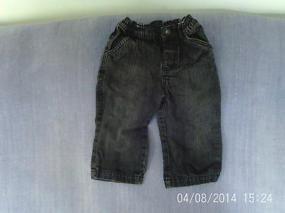 Baby Boys 12-18 Months - Dark Grey Denim Jeans - Mothercare