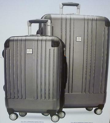 "New Ricardo of Beverly Hills 2 Piece Travel Set 20"" Carry On  27"" Upright *grey*"