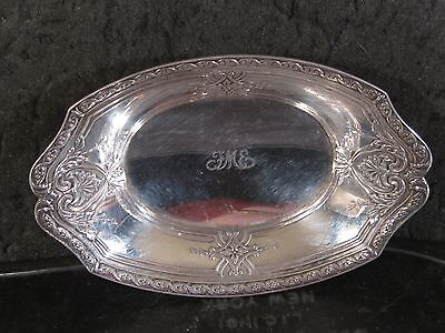 """Tiffany & Co Sterling  # 19819  NUT OR CANDY DISH  1"""" x 3"""" x 4 3/4"""" Mono FME"""