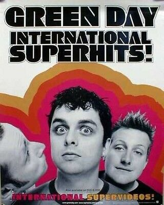 GREEN DAY 2001 international superhits promo poster ~NEW old stock MINT cond.~!!