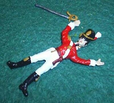 TOY SOLDIERS TIN NAPOLEONIC WAR OF 1812 DEAD BRITISH OFFICER 54MM