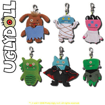 Uglydoll Universal Studios Monsters Clip-On Set of 6 - 4-Inch Plush Key Chains