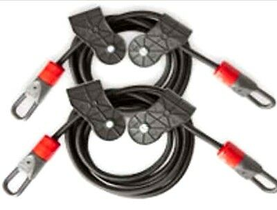 Tower 200 Resistance Power Cords Bands Extra Set 40 Pounds Pair Home Gym Workout