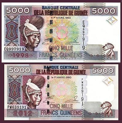 35b P UNC from 2012 Young Woman and Carving GUINEA 100 Francs
