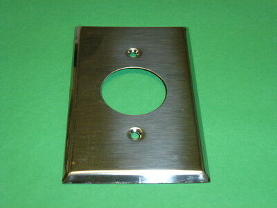 Nos! (2) Bell 1-Gang Single Receptacle Chrome Finish Wall Plate, Cat No. 13-1-C