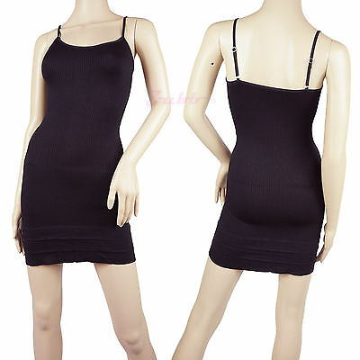 Women Hot Sexy Adjustable Spaghetti Strap Bottom Ruffles Mini Black Dress Camise