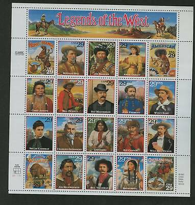 SC 2869 a-t LEGENDS OF THE WEST  MNH FULL MINT SHEET / 20