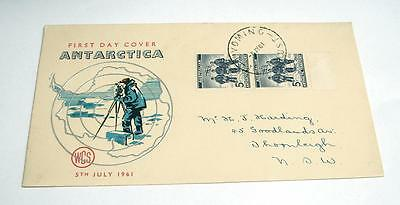 1961 Australian Antarctic First Day Cover Issue  Used 2 x 5d stamps FD4