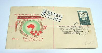 1955 Australian Melbourne Olympic Games First Day Cover Issue FDC used   FD6