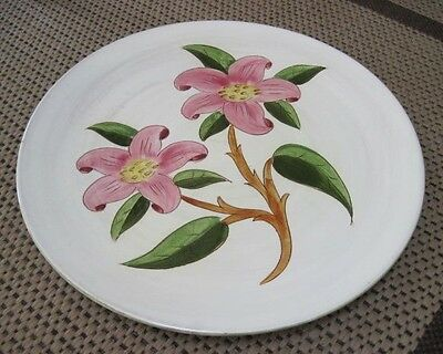 """1947 Stangl Pottery Hand Painted Prelude 14.5"""" Chop Plate #3774"""