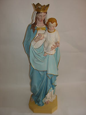 Large statue of Mary and child