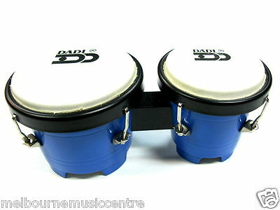 "JUNIOR BONGO DRUMS Durable Plastic 4½"" & 5"" Coloured Shells *Fully Tunable* NEW!"