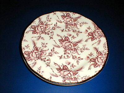 Wood/Wood's & Sons Pink COLONIAL ROSE Salad Plate