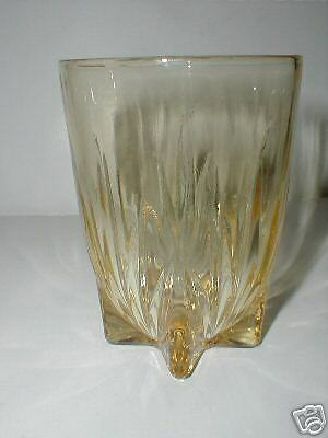 Federal Glass Yellow Amber STAR 9 oz. Water Tumbler/s