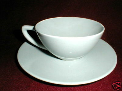 Edwin Knowles China ACCENT Dove Gray Cup Saucer
