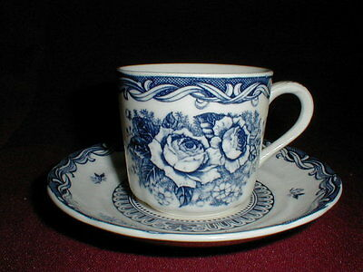 Nasco China Blue White OLD VIENNA Cup Saucer