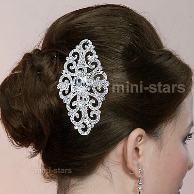 Bridal Wedding Headpiece Art Deco Vintage Style Quality Flower Hair Comb T1660