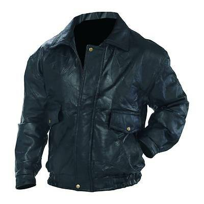 Men's Leather Motorcycle, Bomber Jacket, Black, Real Leather NEW!