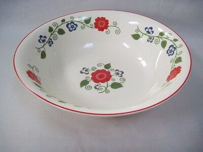 "Universal Potteries Camwood Ivory Floral 9.5"" Bowl"