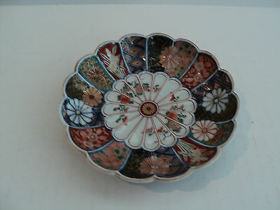 "19th CENTURY JAPANESE IMARI SMALL 5"" BOWL, POLYCHROME TAPESTRY ENAMEL DECORATION"