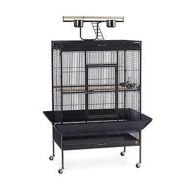 Prevue Hendryx Wrought Iron Select Cage Black Hammertone - 3154BLK