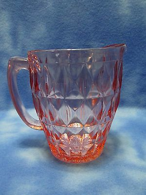 Jeannette Pink Windsor Diamond 52 oz Pitcher (As Is)