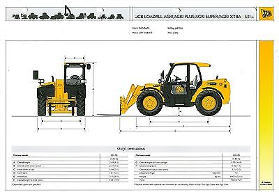 2007 Jcb Loadall Agri 531-70 Specification Brochure