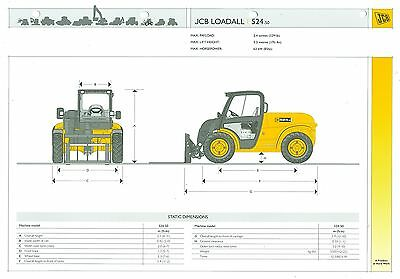 2007 Jcb Loadall 524-50 Specification Brochure