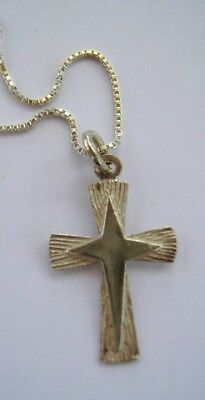 CROSS with star - SILVER PENDANT & NECKLACE
