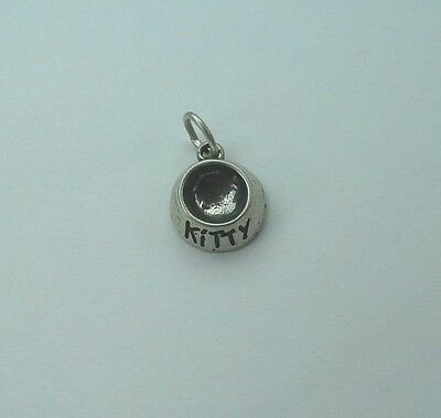 Kitty Bowl Charm - Sterling Silver