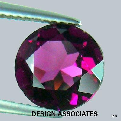 Rhodolite Garnet 8 Mm Round Cut All Natural