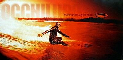 OAKLEY 2001 HUGE Mark Occhilupo surf poster ~NEW old stock & MINT condition~!