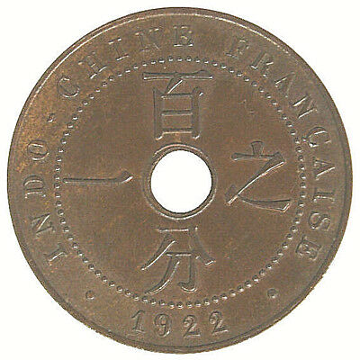 Indocina Francese/french Indochina 1 Cent 1922 A #4970A