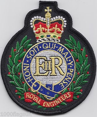 British Army - The Royal Engineers RE The Sappers Embroidered Patch Badge