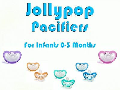 JollyPop Pacifier Pick Your Color &/or Scent Baby Soothie Gumdrop 0-3 Month 100%