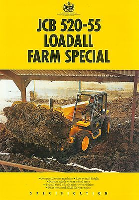 1993 Jcb Loadall 520-55 Farm Special Specification Brochure