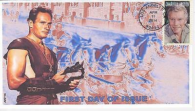 Jvc Cachets - 2014 Charlton Heston First Day Cover Fdc Movies Acting Topical #3